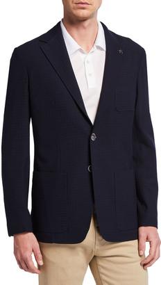 Canali Men's Midnight Houndstooth Sport Coat