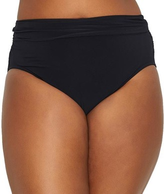 Magicsuit Plus Size Shirred Bikini Bottom