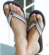 Aspiga Tanzi Flat White Leather Soft Sole Flip Flops