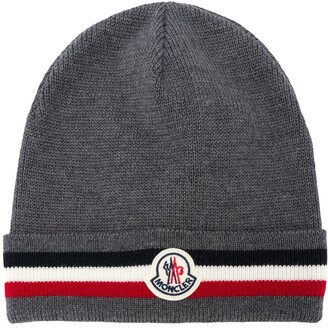 Moncler Striped Wool-Knit Beanie