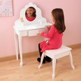 Kid Kraft Medium White Diva Vanity Table and Stool Set
