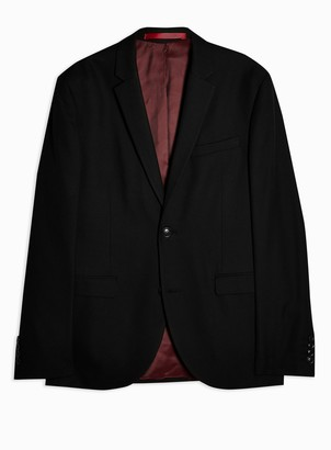Topman Black Skinny Fit Suit Blazer With Notch Lapels