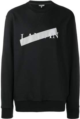 Lanvin Taped Logo Sweater