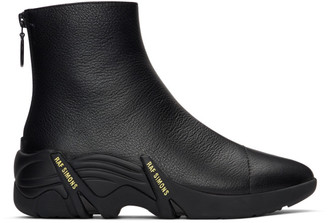 Raf Simons Black Cyclon Zip-Up Boots