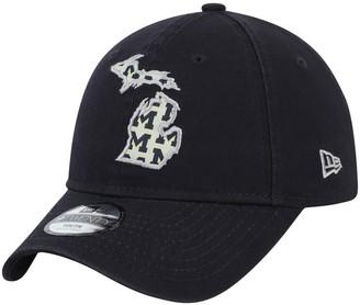 New Era Youth Navy Michigan Wolverines Stamp 9TWENTY Adjustable Hat