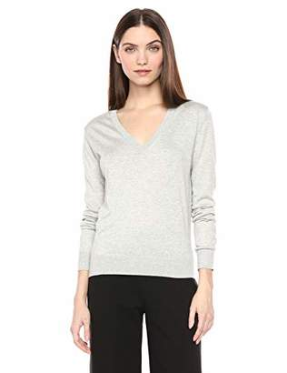 Theory Women's V Neck Pull Over Long Sleeve Sweater