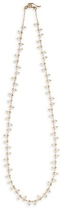 Ten Thousand Things 18K Yellow Gold & 3MM Pearl Spiral Beaded All Around Choker Necklace