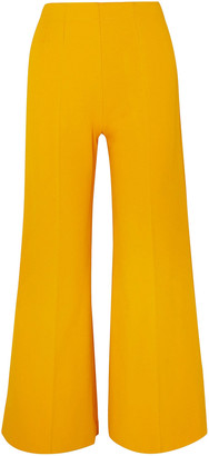 Alaia Cropped Knitted Wide-leg Pants