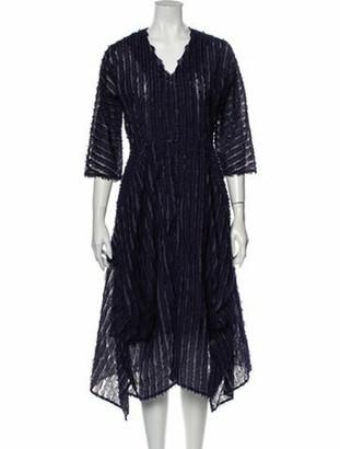 Zero Maria Cornejo Striped Midi Length Dress w/ Tags Blue