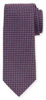 Ermenegildo Zegna Diamond Neat Silk-Wool Tie, Burgundy