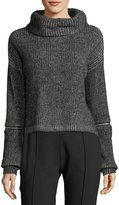 Willow & Clay Zip-Detail Crop Sweater