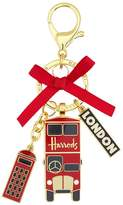 Harrods Red Bus Bag Charm