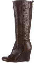 Tory Burch Leather Wedge Knee-High Boots