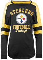 5th & Ocean Women's Pittsburgh Steelers Space Dye Long Sleeve T-Shirt