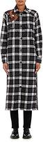 Each X Other Women's Flannel Maxi Shirtdress-BLACK