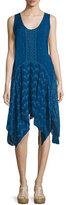 Johnny Was Windmill Sleeveless Embroidered Dress, Bluebird