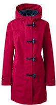 Lands' End Women's Petite Squall Duffle Coat-Deep Scarlet