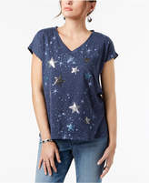 Style&Co. Style & Co Embellished Star T-Shirt, Created for Macy's