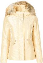 Fendi hooded jacket - women - Fox Fur/Polyamide/Polyester/Goose Down - S