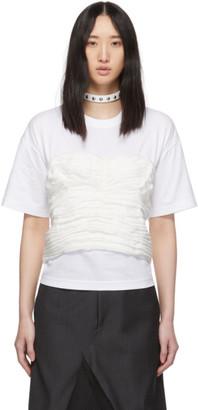 Junya Watanabe White Gathered Corset T-Shirt