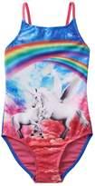 SO Girls 4-16 SO® Rainbow Unicorn One-Piece Swimsuit