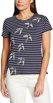 People Tree Peopletree Women's Stripe Swallows Print T-Shirt