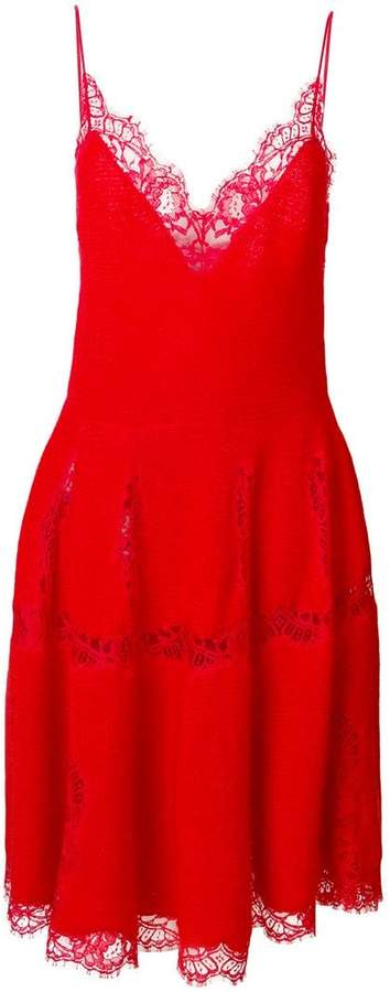 Givenchy lace trim knitted dress