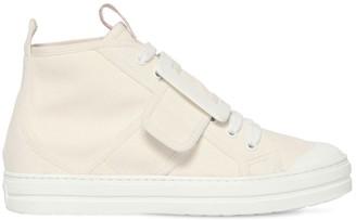 Roger Vivier 30mm Baby Viv Cotton Canvas Sneakers