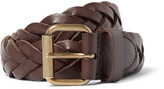 J.crew - 3cm Brown Woven Leather Belt
