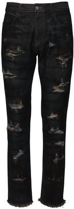424 Indigo Dark Wash Destroyed Denim Jeans