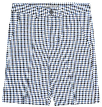 Bonpoint Calvin checked cotton-blend shorts