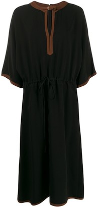 Gucci 3/ sleeve drawstring dress