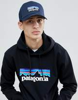 Patagonia P-6 Logo Trucker Hat In Navy