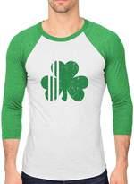 TeeStars St. Patrick's Day Irish Shamrock Clover Men's 3/4 Sleeve Baseball Jersey Shirt green/white