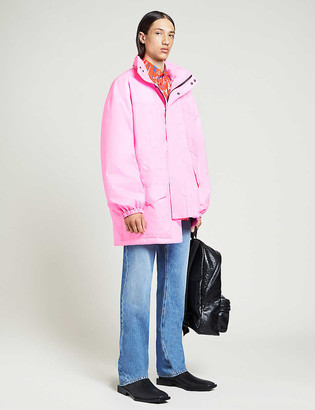Balenciaga Hooded shell parka coat