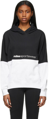 Nike Black and White NSW Archive Rmx Hoodie