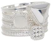 Anna Beck Sterling Silver Geometric Shape Ring Set - Set of 3