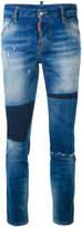 DSQUARED2 Cool Girl cropped patch jeans - women - Cotton/Spandex/Elastane - 38