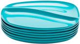 Asstd National Brand Zak Designs Moso Set of 6 Divided Plates