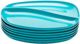 Zak Designs Moso Set of 6 Divided Plates