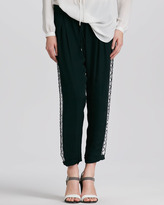 Haute Hippie Embellished Tuxedo Trousers