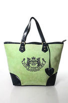 Juicy Couture Mint Green Blue Terry Cloth Coated Embroidered Tote Handbag