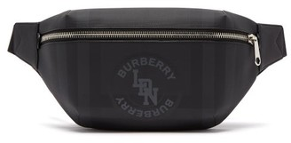 Burberry Logo-print Coated-canvas Cross-body Bag - Mens - Grey