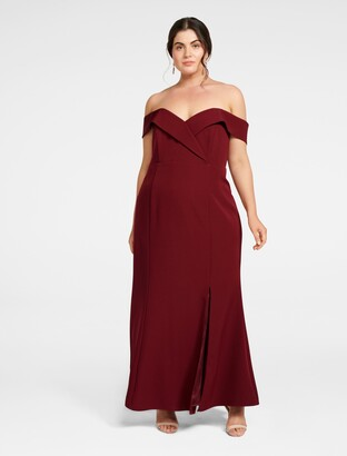 Forever New Luna Curve Formal Gown - Red Shiraz - 16