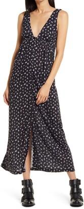 Ninety Percent Blur Ditsy V-Neck Dress