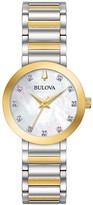 Bulova Women's Modern Diamond Accent Two Tone Stainless Steel Watch - 98P180