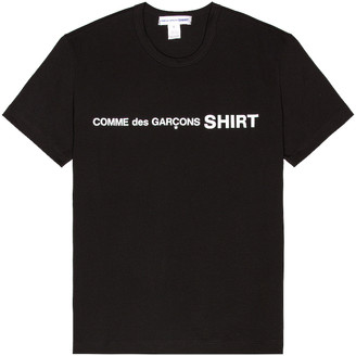 Comme des Garçons Shirt Logo Tee in Black | FWRD