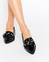 Asos MERCY Flower Embellished Loafers