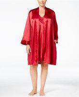 Thalia Sodi Plus Size Satin Wrap Robe, Only at Macy's