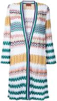 Missoni zig-zag pattern open cardigan